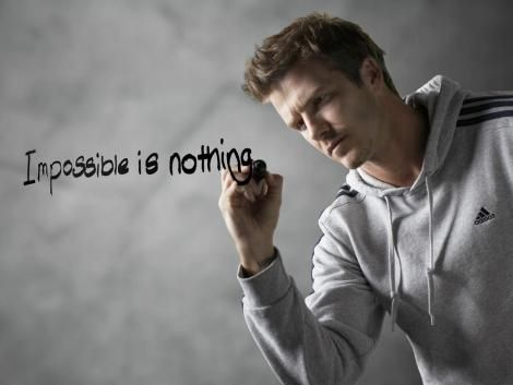 nouveau produit ca2b5 a98ad Impossible is nothing | Beckham | adidas | Advertising ...