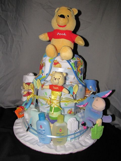 Baby Shower NEW DISNEY WINNIE THE POOH BIB Diaper Cake