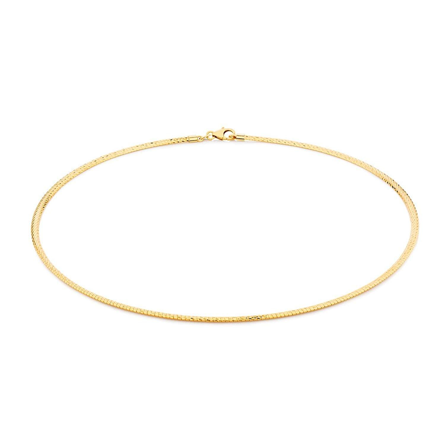 2mm 14k GOLD PLATED STERLING SILVER 925 ITALIAN SNAKE CHAIN NECKLACE JEWELLERY