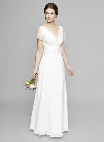 Ivory Willow Lace Peplum Wedding Dress