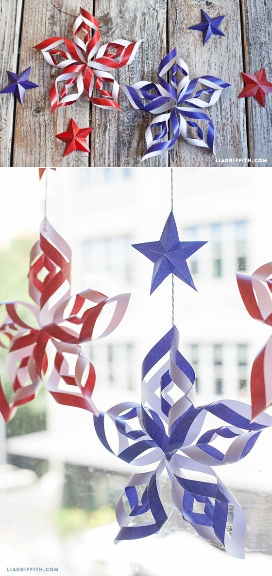 Diy Paper Stars For Fourth Of July July Crafts 4th Of July 4th Of July Decorations