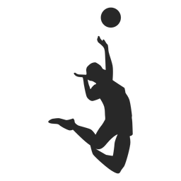 Jumping Spike Volleyball Silhouette In 2020 Volleyball Silhouette Spike Volleyball Volleyball