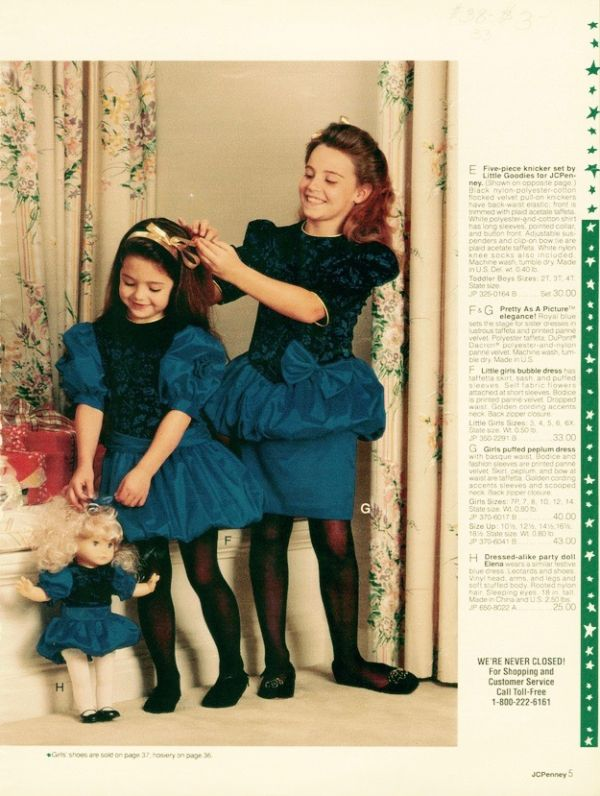 ae24e50cf Page from a 1990 JC Penney Holiday catalog.  catalog