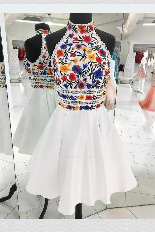 High Neck Halter Embroidery White Short Prom Dress Homecoming Dresses – Laurafashionshop #homecoming dress, Charming High Neck Halter Embroidery White Short Prom Dress Homecoming Dresses Party Gowns LD2192 #homecomingdresses High Neck Halter Embroidery White Short Prom Dress Homecoming Dresses – Laurafashionshop #homecoming dress, Charming High Neck Halter Embroidery White Short Prom Dress Homecoming Dresses Party Gowns LD2192 #homecomingdressesshort