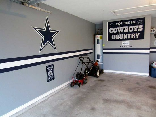 dallas cowboys bedroom decor. Do something like this in a NASCAR theme for the garage paint  schemes Team Dallas Cowboys