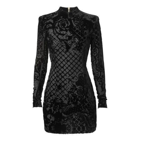 Balmain x H&M las 110 piezas de la colaboración ❤ liked on Polyvore featuring dresses, balmain and short dresses