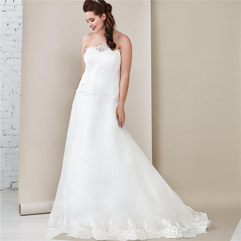 Off White Lace Wedding Dresses Vestidos Festa Long Train Plus Size