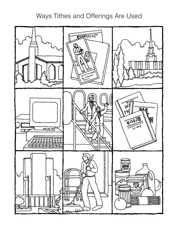 Tithing coloring page Activity Days Pinterest Churches