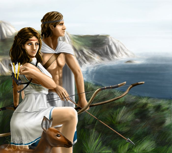 Artemis and Apollo 2 by FedeSchroe | Spirituality and ...