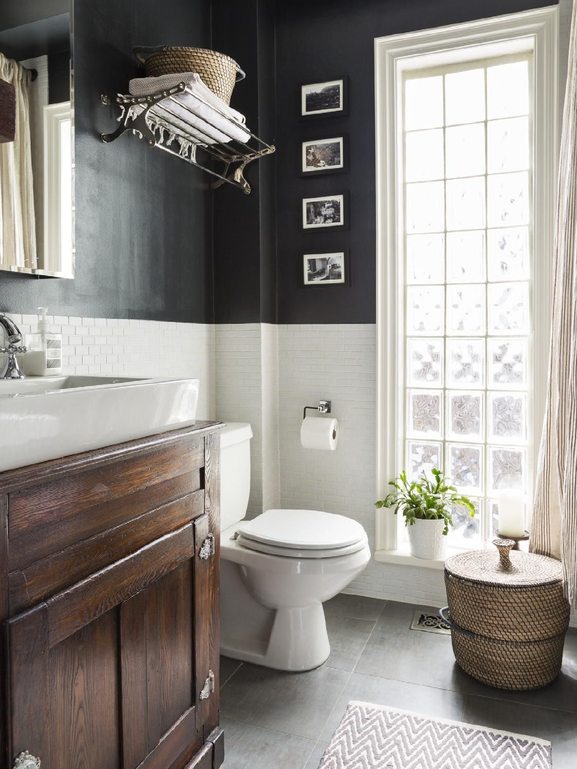 Bathroom window decor  issue sara dan and addieus home is a delicious mix of colour