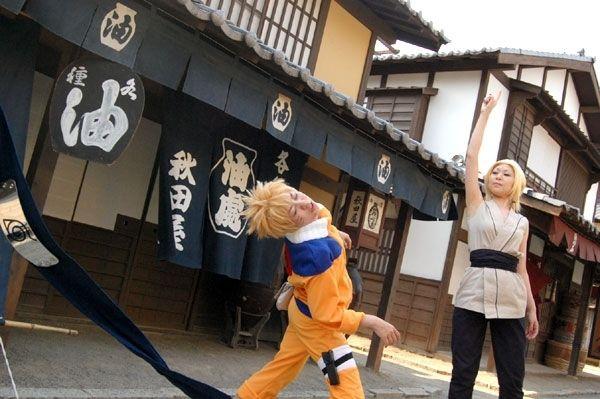 Naruto and Tsunade cosplay
