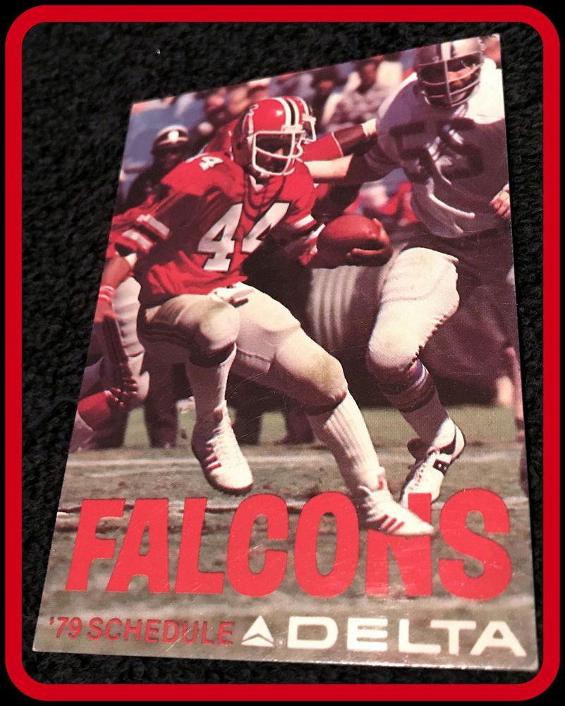 1979 Atlanta Falcons Delta Airlines Football Pocket Schedule Gdvg Condition Pocket Atlantafalcons Pocketschedules Atlanta Falcons Falcons Nfl Football