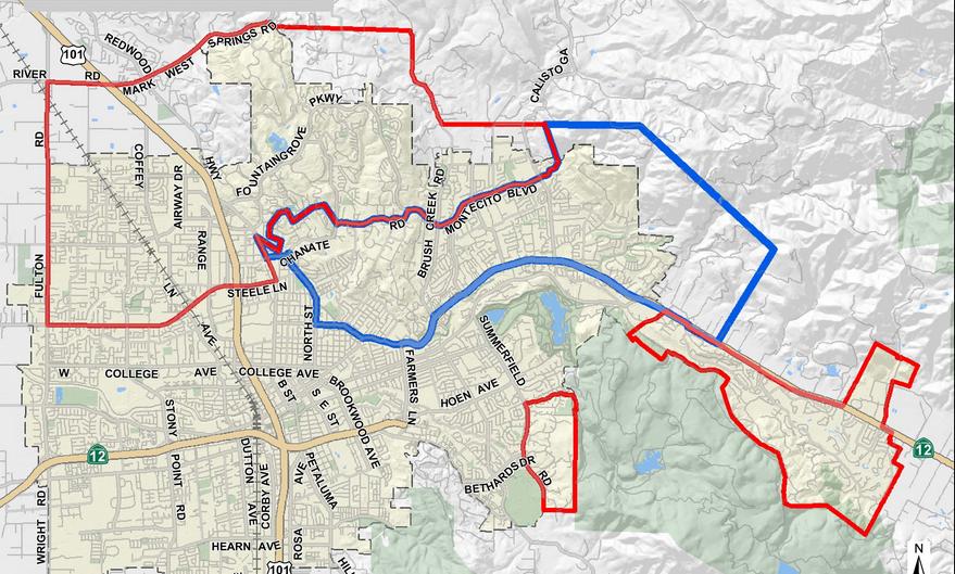 Santa Rosa Fire Map: Location of Napa, Tubbs & Atlas Fires [Oct. 12 on