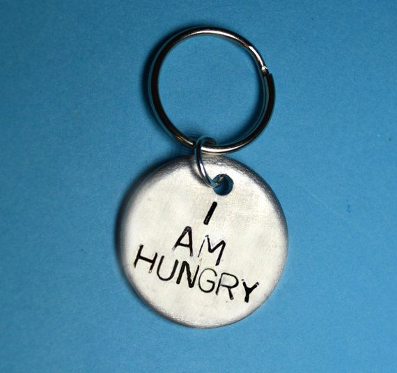 Hungry Fun Gift Funny Keyring Quote Uk Ideas Best Friend Birthday For HerGift HimHandstamped