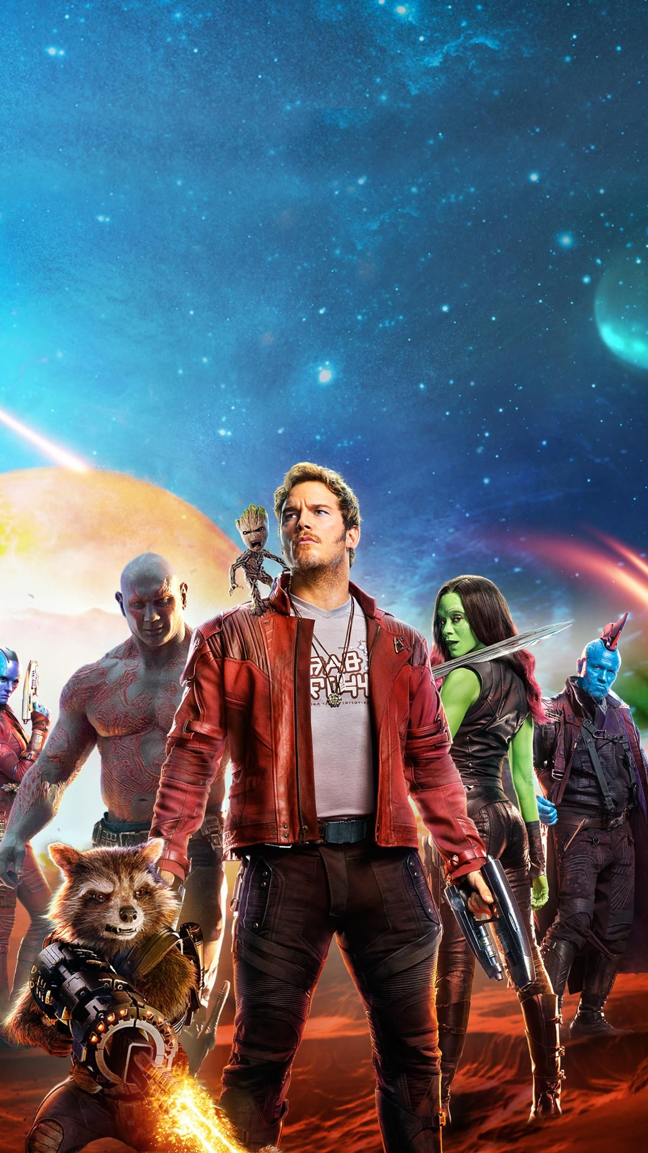 Guardians Of The Galaxy Vol 2 2017 Phone Wallpaper Marvel