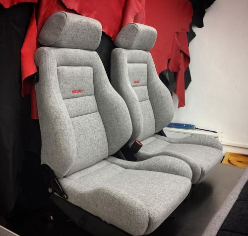 recaro seat retrim in tweed autoupholstery vwinteriors at bernard newbury auto interiors. Black Bedroom Furniture Sets. Home Design Ideas