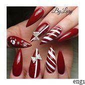 27 Weihnachten Nail Designs – #Christmas #Designs #Nail – #Christmas #Desig … -…