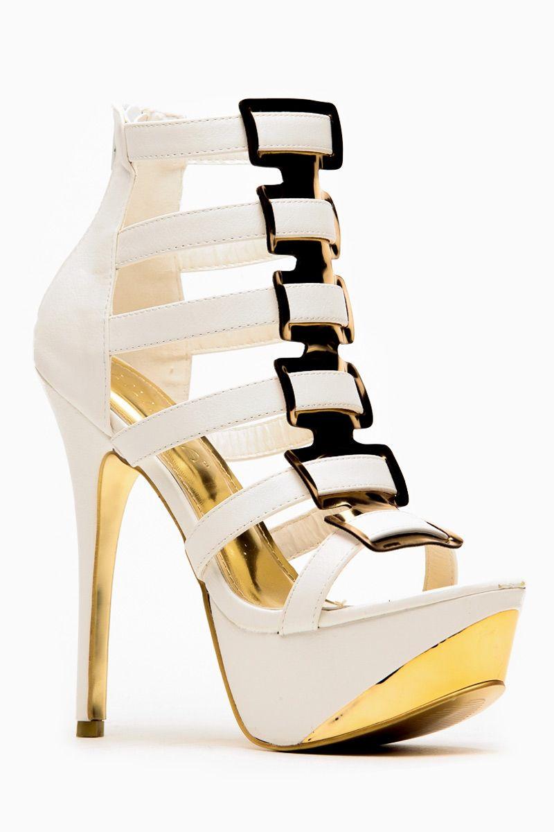 d8e11ef4b46 Liliana Open Toe Thea White Heels | Head over HEELS!! | Pinterest ...