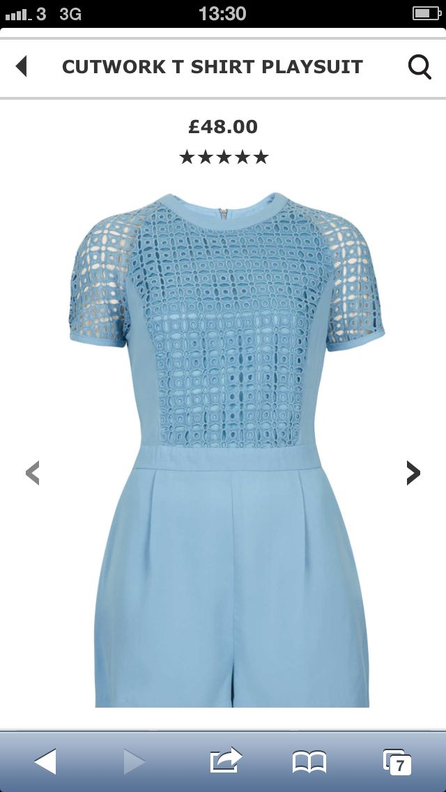 57911368a7 Topshop-cutout playsuit-baby blue-as seen on Michelle Keegan   Sam Faiers
