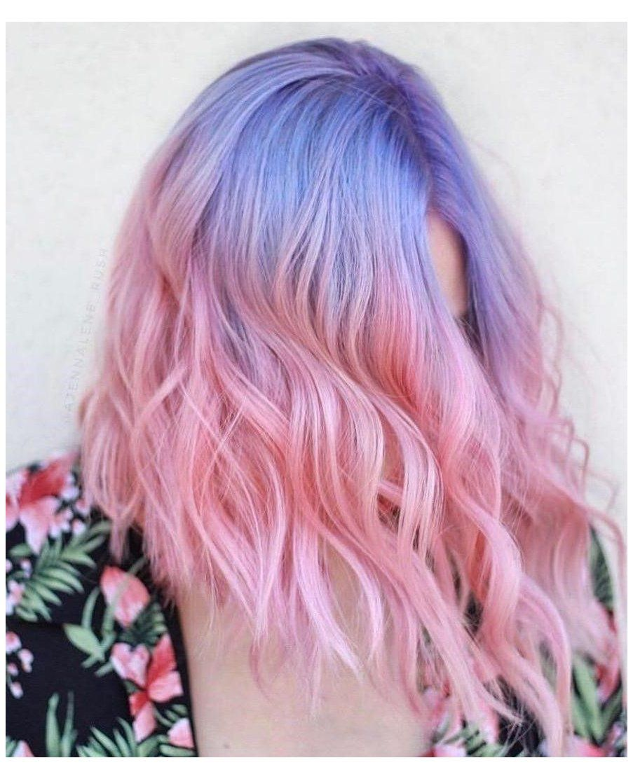 pink hair pastel ombre