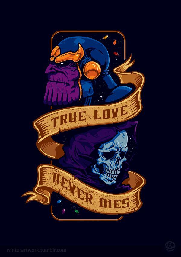True Love Never Dies by Winter , via Behance