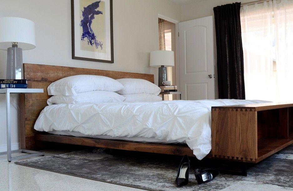 Fabulous Bedroom Rustic Dark Varnished Pine Low Profile Platform Bed Pdpeps Interior Chair Design Pdpepsorg