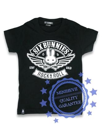 SIX BUNNIES Biker rock`n roll t-paita