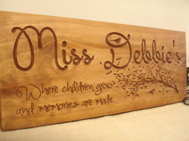 Custom Wooden Sign For Daycare Provders Teachers Babysitters Plaque