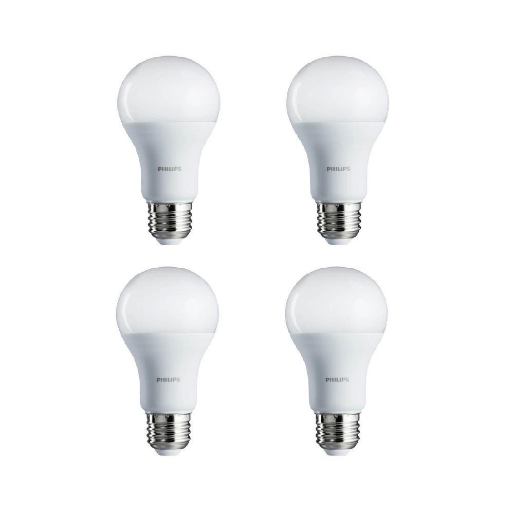 100 Watt Equivalent A19 Led Light Bulb Daylight 4 Pack In
