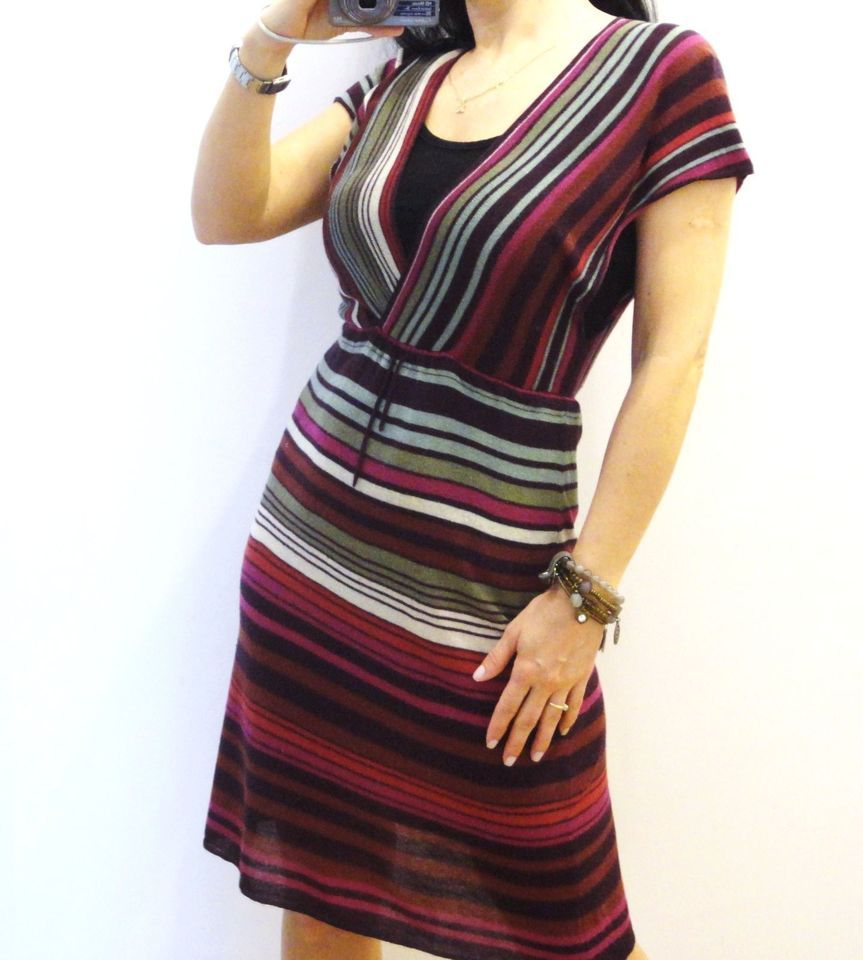 INDISKA, gestreiftes Damen Kleid,Strickkleid,Kimono,Hippie,Blogger ...