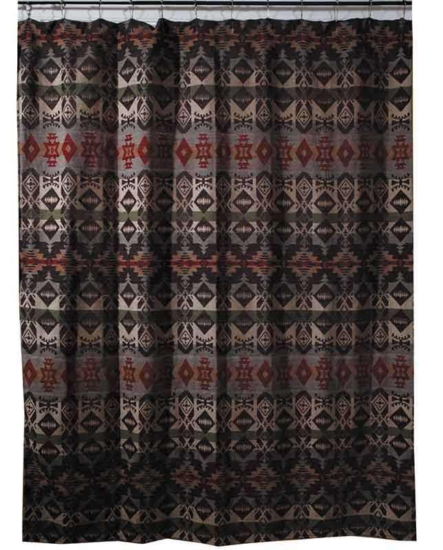 Montana Collection Shower Curtain Fabric Shower Curtains Rustic