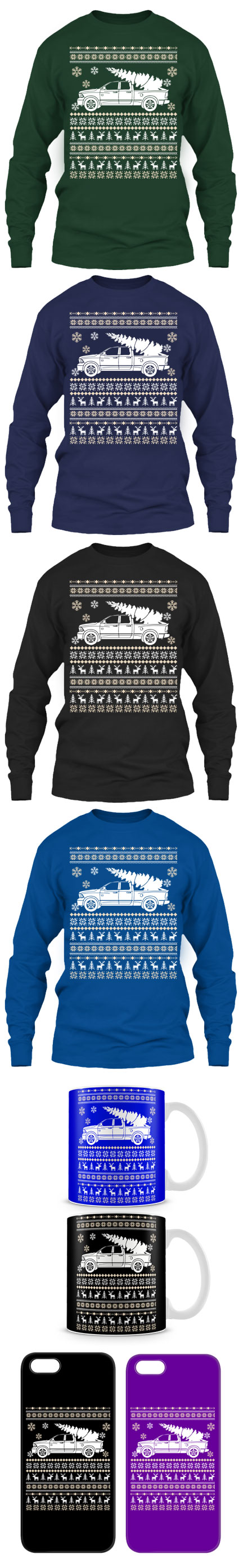 Ram Pick Up Ugly Christmas Sweater! Click The Image To Buy It Now ...