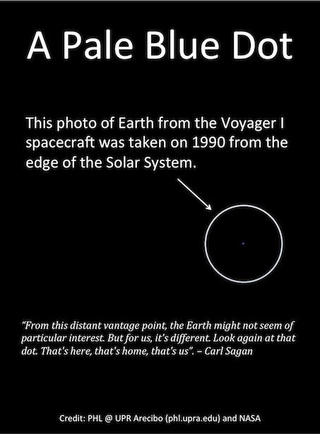 "Revised ""Pale Blue Dot"" Photo Pale blue dot, Space facts"