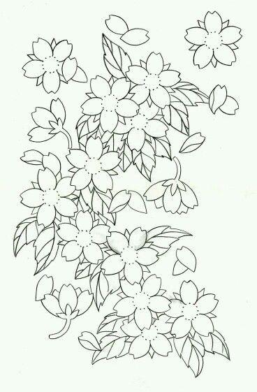 Sakura Cherry Blossom Drawing Japanese Flower Tattoo Japanese Tattoo Art