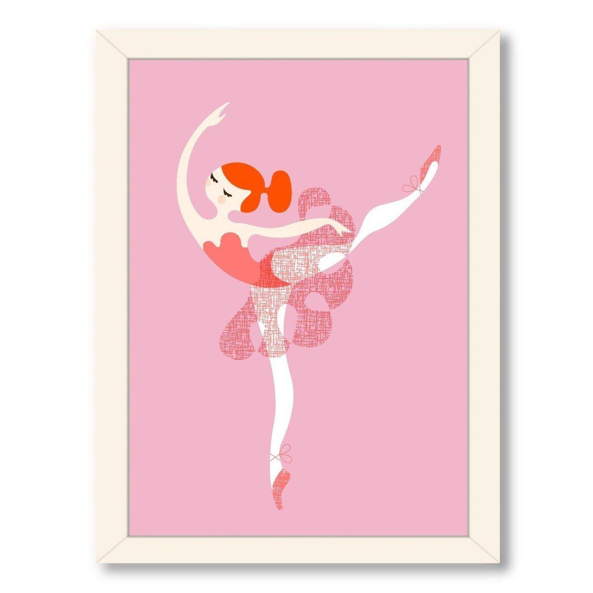 Roseann Ballerina Arabesque Framed Art