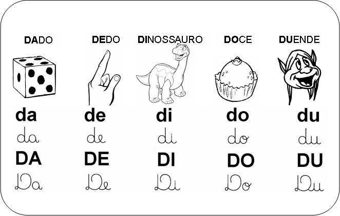 Silabas Com Da De Di Do Du Jpg 662 422 Com Imagens