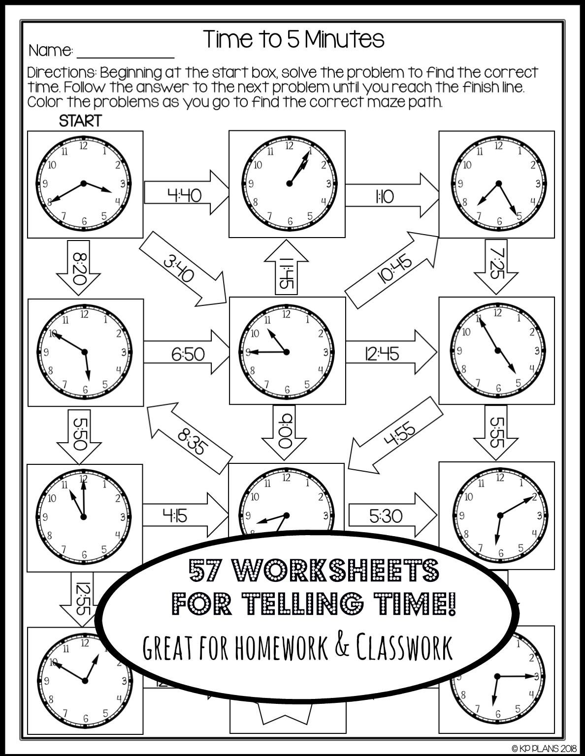 small resolution of Telling Time Worksheets No Prep   Time worksheets