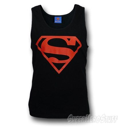 cd0427dd1ce26 Superman T-Shirts and Clothing. Superboy Red Symbol Tank Top