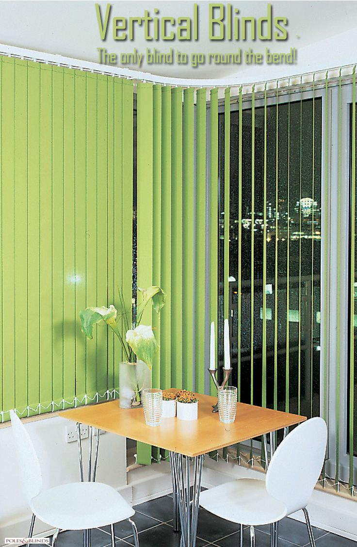 Vertical Blinds Can Be Ordered With A Curved Headrail So