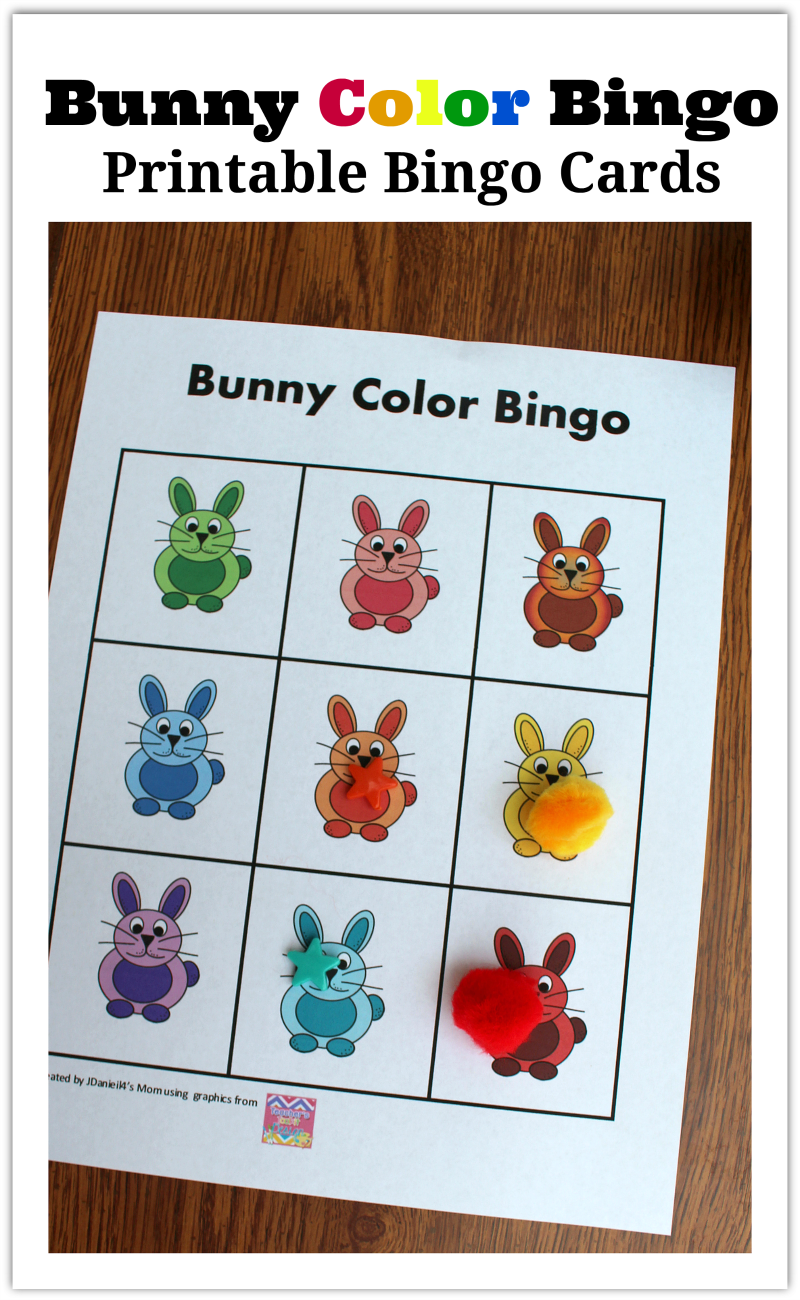 Bunny Color Bingo Printable Bingo Cards - I have come up with a ...