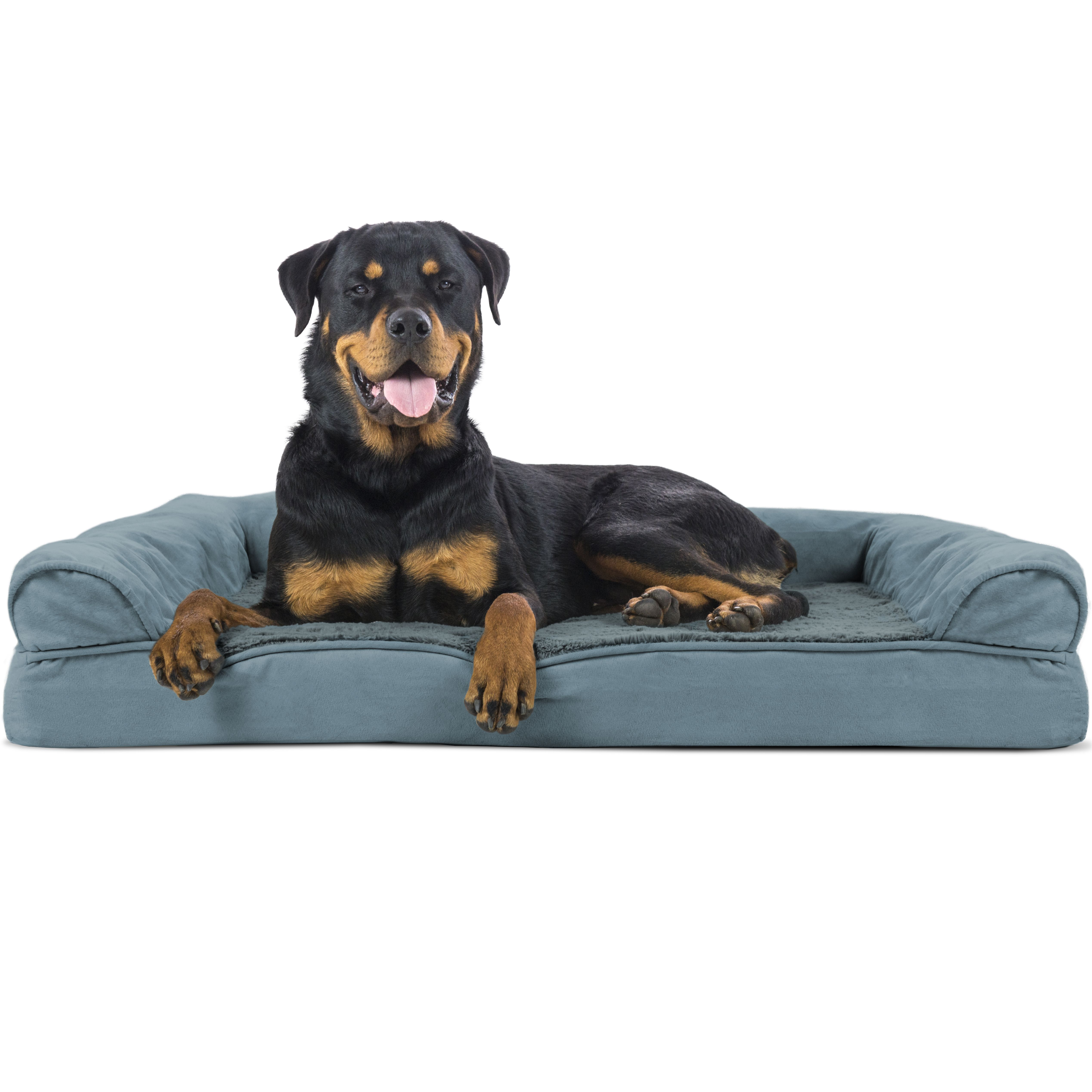 Furhaven Pet Dog Bed Orthopedic Ultra Plush Sofa Style Couch Pet Bed For Dogs Cats Deep Pool Jumbo Walmart Com Cool Dog Beds Dog Pet Beds Orthopedic Dog Bed