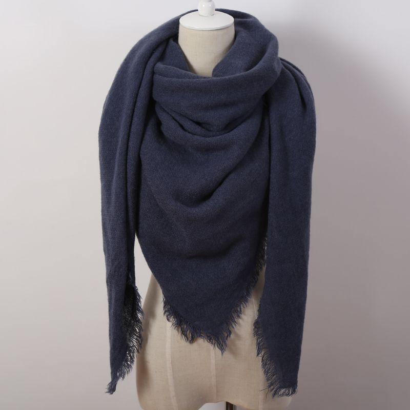 Colore Solido di Modo caldo Inverno Sciarpa Quadrata Donne Oversize Coperte di Lusso di marca Scialle di Cachemire sciarpa Cape Size 140 cm x 140 cm