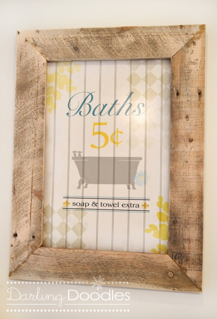 Build these frames from old pallets. Frame the photographs I have ...