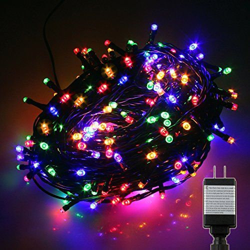 pms 1000 led multicolor string fairy lights on dark green cable with 8 light effects and memory function low voltage transformer in christmas lights