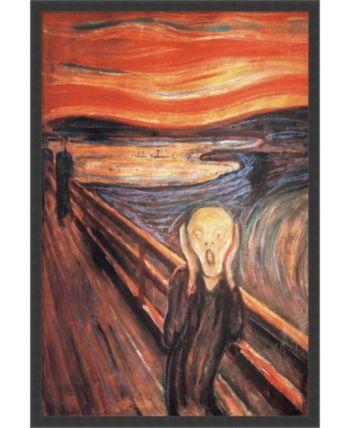 Amanti Art The Scream, 1893 By Edvard Munch- Framed Art Print