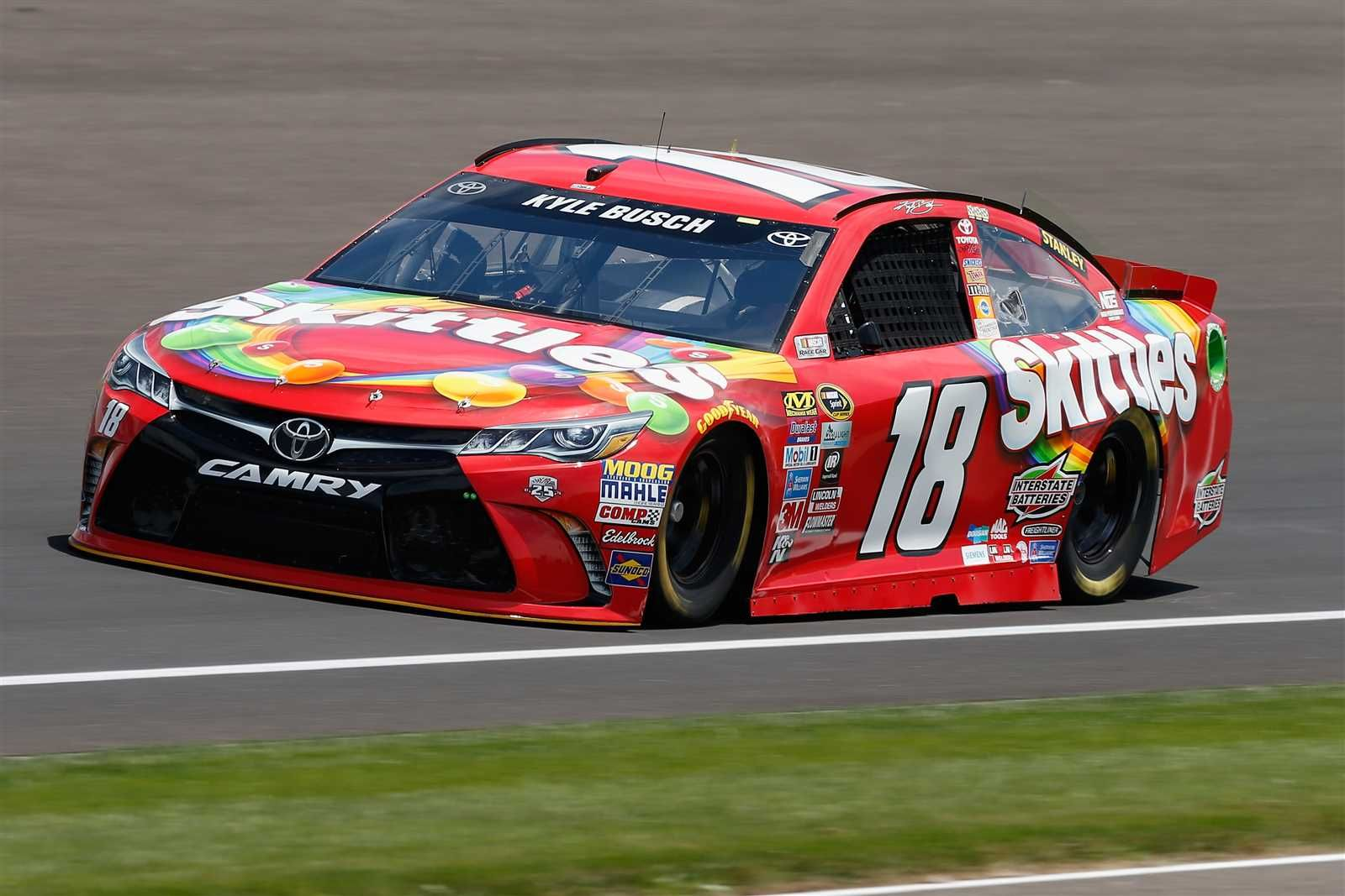 Kyle Busch will start first in the No. 18 Joe Gibbs Racing Toyota. - Crew Chief: Adam Stevens - Spotter: Tony Hirschman - Starting lineup: Indianapolis - Saturday, July 23, 2016