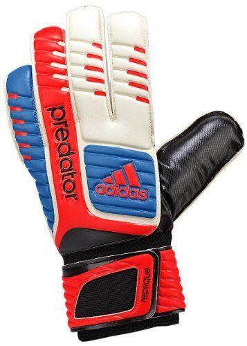 Adidas Predator Fingersave Junior Goalie Glove White Bright Blue