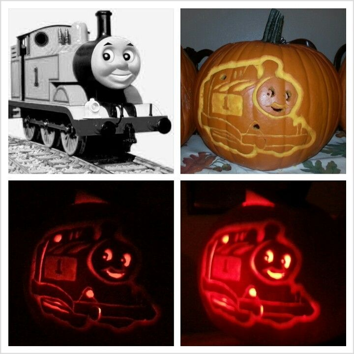 Thomas the train pumpkin carving my homemade crafts