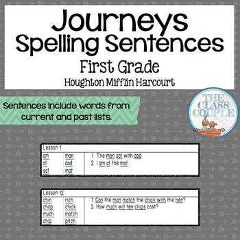 Journeys First Grade Spelling Sentences Journeys First
