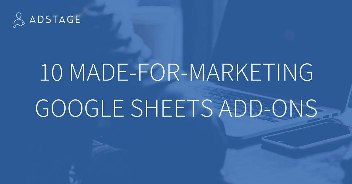 10 MadeForMarketing Google Sheets AddOns Google